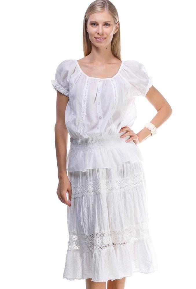 Белое бохо, или Шикарная одежда для королевы летнего пляжа, фото № 37