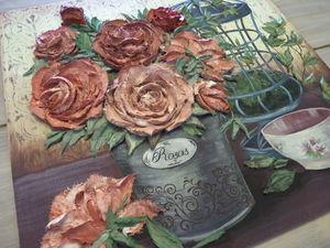 Как создать фон под рельефную (скульптурную) живопись. Ярмарка Мастеров - ручная работа, handmade.