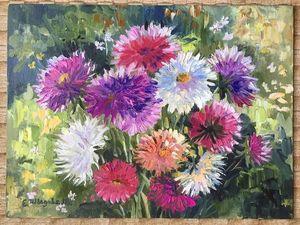 Новинка магазина на 1000 р дешевле.Картина цветов на холсте. Ярмарка Мастеров - ручная работа, handmade.