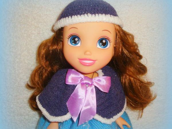 Накидка и шапочка для куколки. | Ярмарка Мастеров - ручная работа, handmade