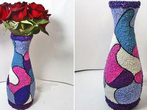 Делаем вазу из бутылки и бисера: видео мастер-класс. Ярмарка Мастеров - ручная работа, handmade.
