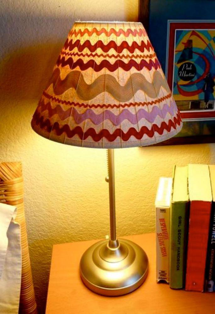 Покрасить абажур настольной лампы своими руками