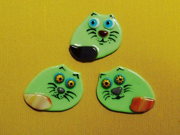 Котики броши, кулоны или магниты | Ярмарка Мастеров - ручная работа, handmade