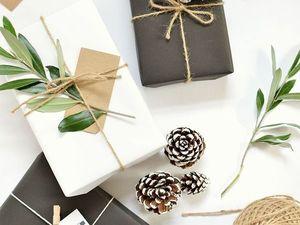 Идеи упаковки подарков к Новому году из подручных материалов. Ярмарка Мастеров - ручная работа, handmade.