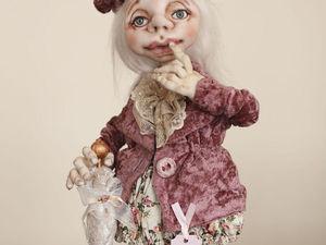 Малыши, нашедшие свой дом. Кукла текстильная коллекционная для интерьера