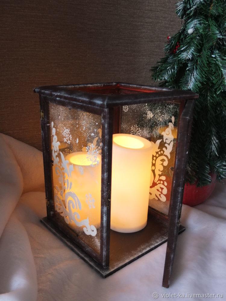 новогодний подарок, подсвечник, новогодний декор