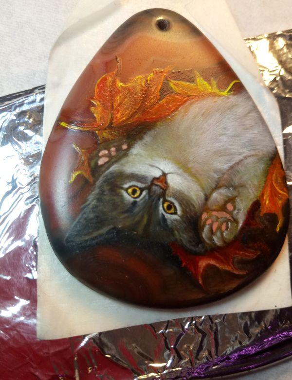 кулон котенок