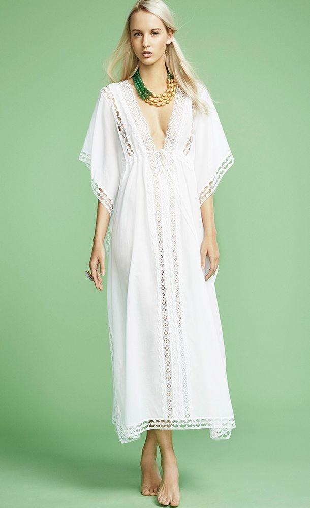 Белое бохо, или Шикарная одежда для королевы летнего пляжа, фото № 48