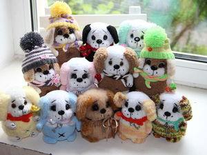 Вяжем к Новому году забавных щенят. Ярмарка Мастеров - ручная работа, handmade.