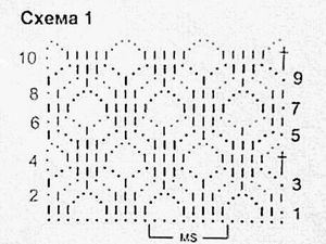 Учимся вязать крючком. Урок 13.  Читаем схемы и вяжем ажурный узор. Ярмарка Мастеров - ручная работа, handmade.