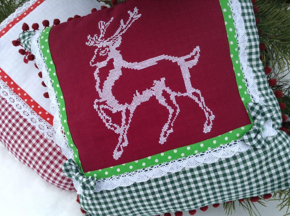новогодние подарки, новогодние олени, новогодний декор