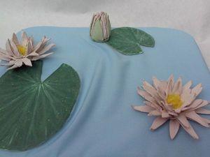 Необычная поздравительная открытка «Кувшинки в пруду». Ярмарка Мастеров - ручная работа, handmade.