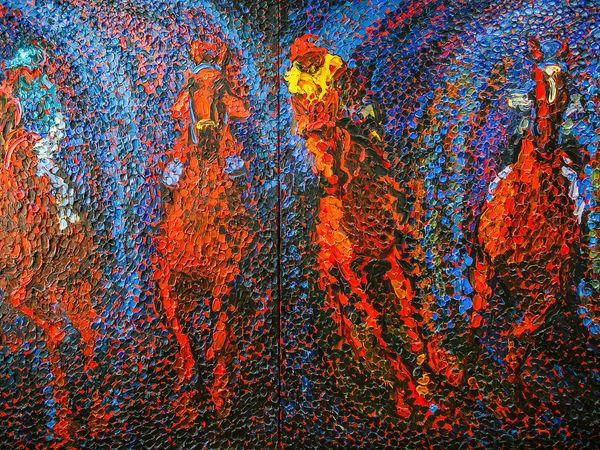 Ольга Бежина пишет картины необычным инструментом   Ярмарка Мастеров - ручная работа, handmade
