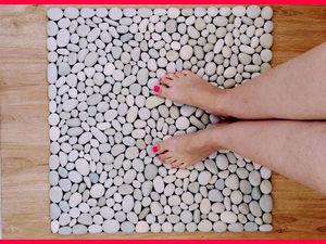 Коврик в ванную из гальки. Ярмарка Мастеров - ручная работа, handmade.