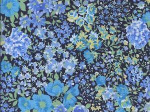Варианты фланелевых тканей: синяя гамма. Ярмарка Мастеров - ручная работа, handmade.