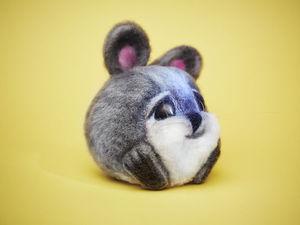Как сделать шерстяного кролика: видеоурок. Ярмарка Мастеров - ручная работа, handmade.