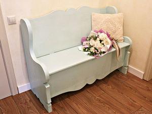 Сундук-скамья в новом цвете покраски. Ярмарка Мастеров - ручная работа, handmade.