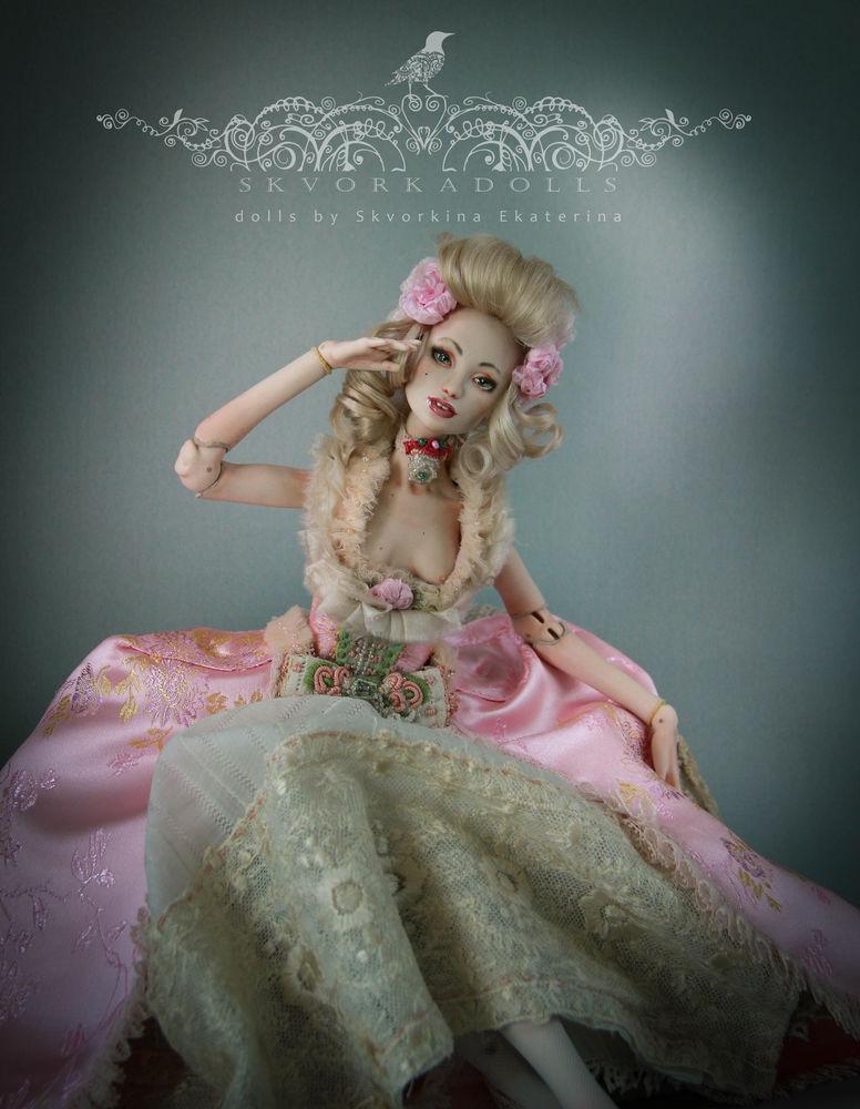 фарфоровая кукла, шарнирная кукла, бжд, коллекционная кукла, рококо