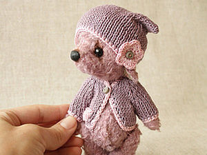 DIY on How to Knit Cap and Sweater for Teddy. Livemaster - handmade