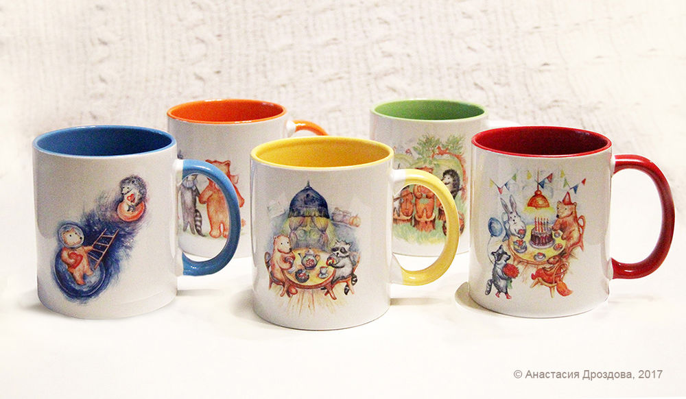 подарок на все случаи, разноцветный, желтый, оранжевый, синий, ежик, мишка, белка, детство, сказки