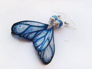 Аукцион на серьги с крыльями феи-бабочки. Ярмарка Мастеров - ручная работа, handmade.