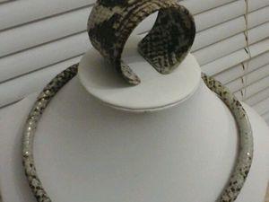 Новое украшение-комплект, Королевский Питон, уже в Магазине!. Ярмарка Мастеров - ручная работа, handmade.