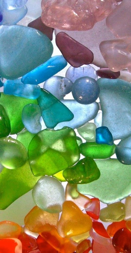 украшения морское стекло