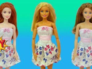 Шьем летнее платье с корсетом для куклы Барби. Ярмарка Мастеров - ручная работа, handmade.