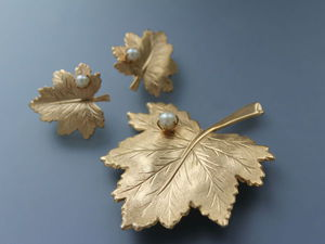 Розыгрыш за репост! 1960гг Sarah Coventry Жемчужинки на листочках | Ярмарка Мастеров - ручная работа, handmade