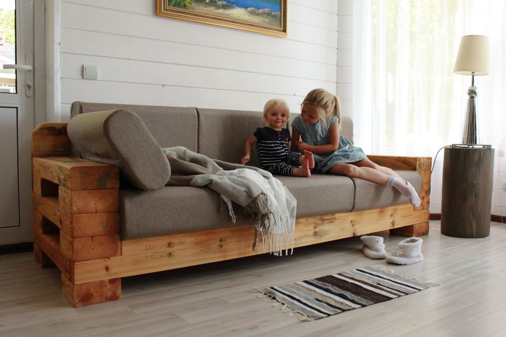как сделать диван, большой диван