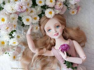 Лара,текстильная шарнирная кукла. Ярмарка Мастеров - ручная работа, handmade.