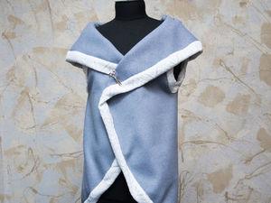 Шьем теплый жилет без выкройки. Ярмарка Мастеров - ручная работа, handmade.