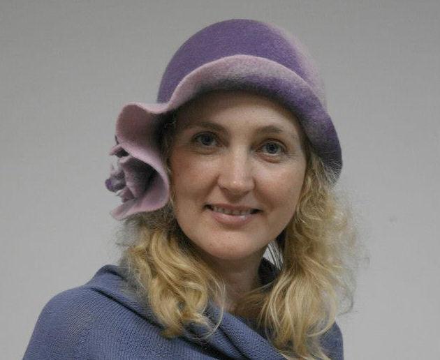 МК Натальи Сафоновой  «Валяная шляпа с  полями из кардочеса», фото № 3