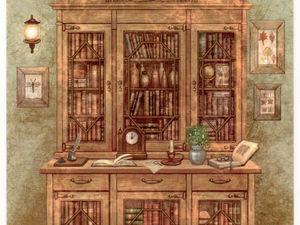 Буфет в живописи и иллюстрациях: 17 картин, пробуждающих теплые воспоминания. Ярмарка Мастеров - ручная работа, handmade.