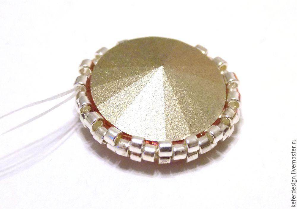 Серьги ручной работы «Цветущая сакура» из кристаллов Swarovski: процесс создания, фото № 5