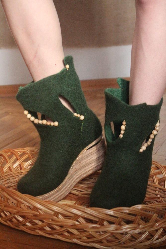 обувь ручной работы, войлоковаляние, валенки
