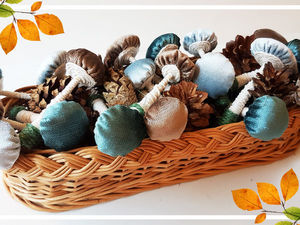 Autumn Decorations: Cozy Mushrooms. Livemaster - handmade