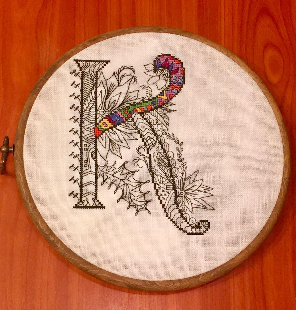 алфавит, схема для вышивки крестом, раскраска