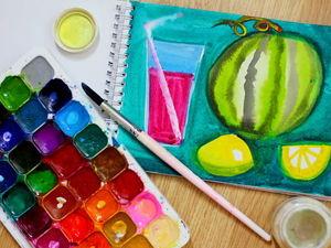 Реалистичный эффект сочных фруктов? Видео-урок для детей и взрослых!. Ярмарка Мастеров - ручная работа, handmade.