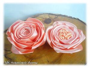 Делаем простые розы из атласной ленты. Ярмарка Мастеров - ручная работа, handmade.