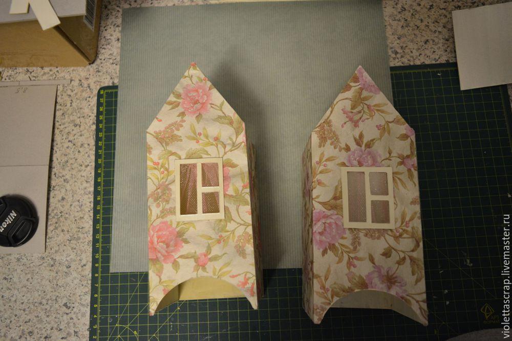 Мастер-класс: изготавливаем дуэт из чайных домиков с конфетницей, фото № 9
