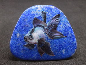Рыба телескоп на лазурите. Аукцион. Ярмарка Мастеров - ручная работа, handmade.