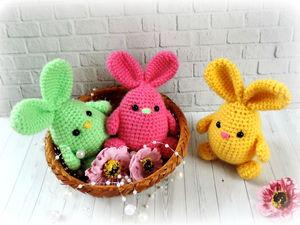 Вяжем милых пасхальных кроликов: видеоурок. Ярмарка Мастеров - ручная работа, handmade.