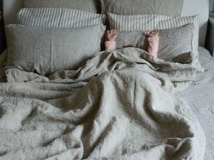 Льняное постельное белье. Ярмарка Мастеров - ручная работа, handmade.