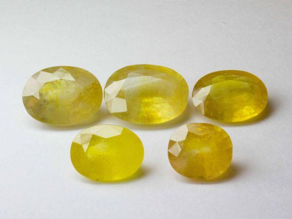 Сапфиры желтые 5 лотов   Ярмарка Мастеров - ручная работа, handmade
