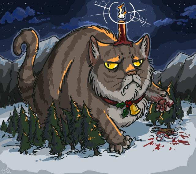 притча, йельский кот, котошарф, шарф де кот, рождественская сказка