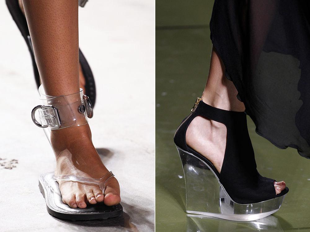 серебряная обувь
