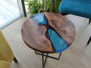 A Video DIY Project: Making a Coffee Table Using Wood and Epoxy Resin. Livemaster - handmade