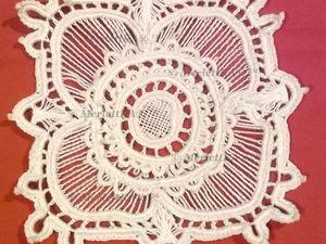 Вязание на Бурдоне - Ирландское Кружево - Мой Крупный Мотив для Туники (Фото Мк). Ярмарка Мастеров - ручная работа, handmade.