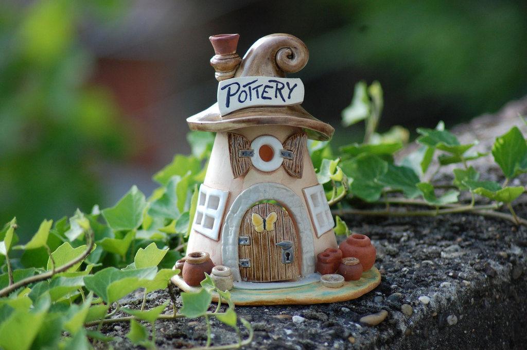 Домики для фей: волшебные керамические подсвечники Antje Rosemann, фото № 6